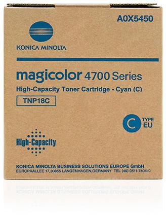Konica-Minolta A0X5450 Toner Cyan Original 0