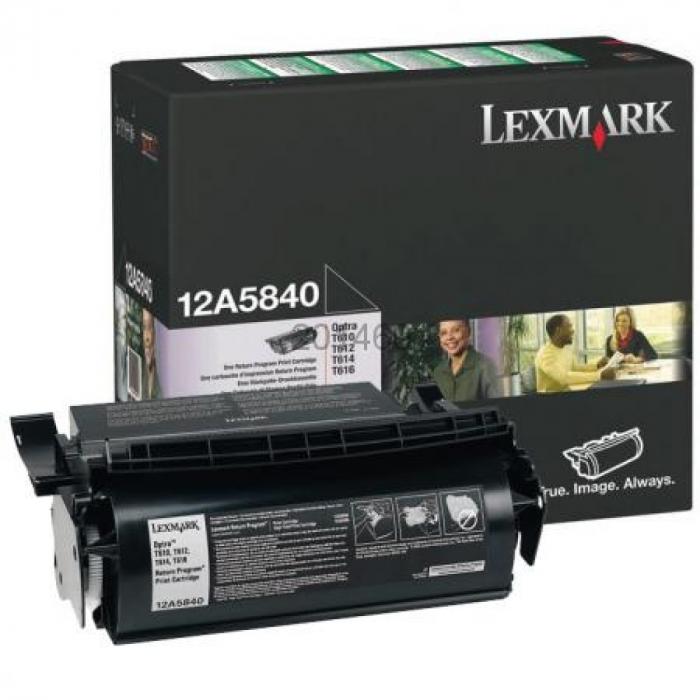 Lexmark 12A5840 Toner Negru Original 0