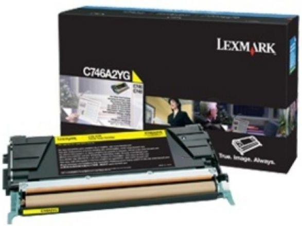 Lexmark C746A2YG Toner Yellow Original 0
