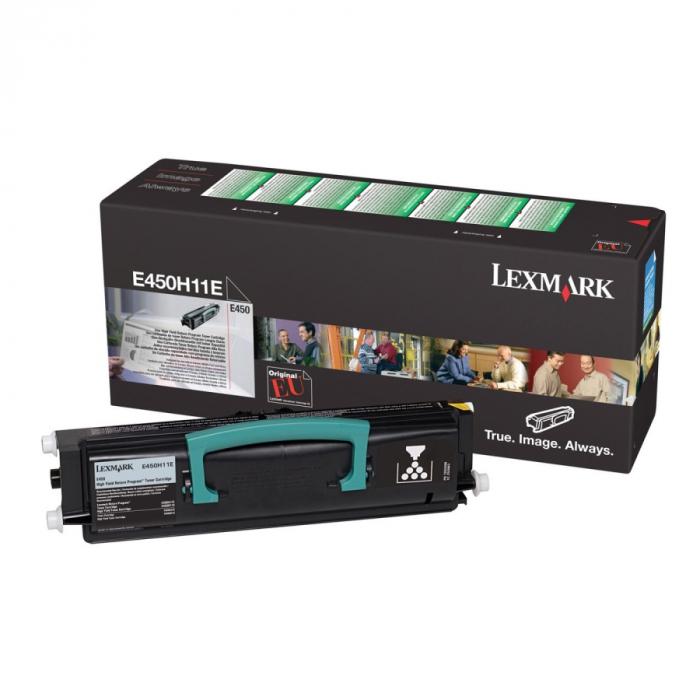 Lexmark E450H11E Toner Negru Original 0
