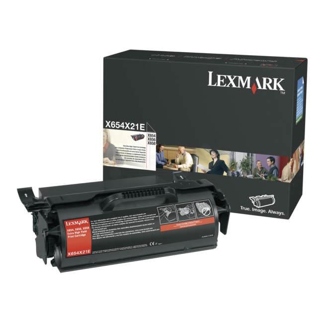 Lexmark X654X21E Toner Negru Original 0