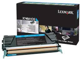 Lexmark X746A1CG Toner Cyan Original 0