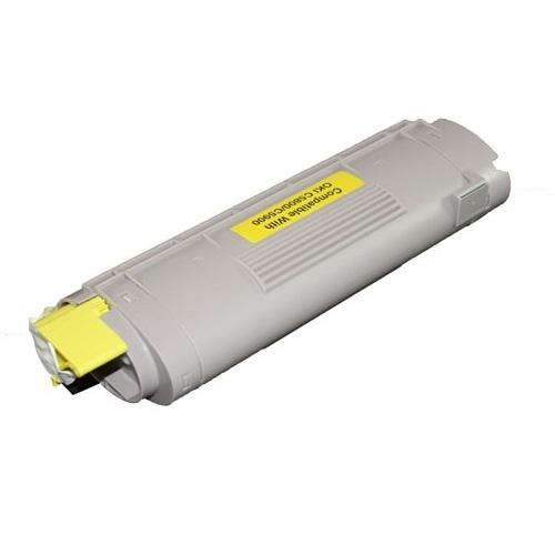 Oki c5900 / 43324421 (y) toner compatibil 0
