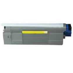 Oki c610 / 44315305 (y) toner compatibil 0