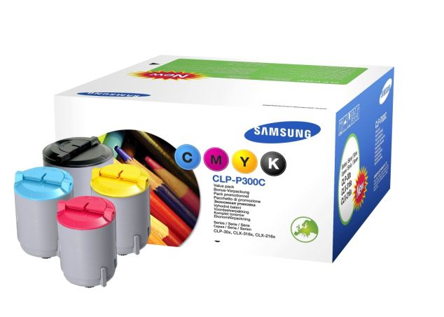 Samsung CLP-P300C Toner Kit Toate Culorile Original 0