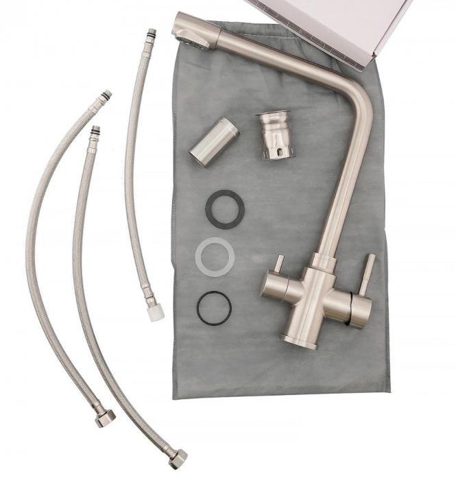 Baterie sanitara pentru chiuveta Mixxus SUS-021, pipa inalta [5]