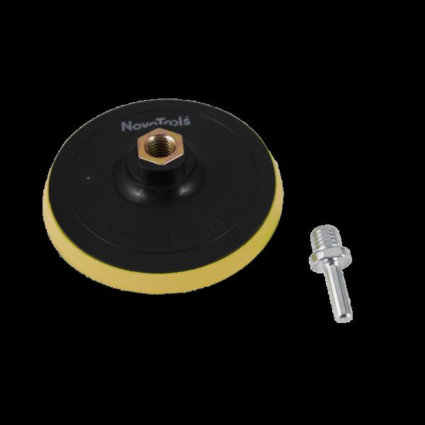 Suport prindere hartie abraziva cu arici pentru flex + adaptor prindere bormasina [0]