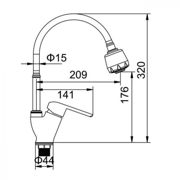 Baterie sanitara FLEKO FZUF(17)-203 [4]