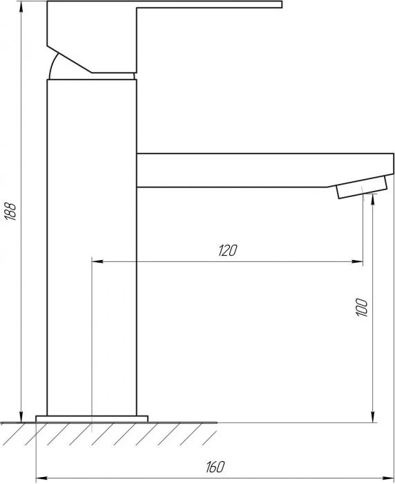 Baterie sanitara pentru chiuveta KUB-001 [3]