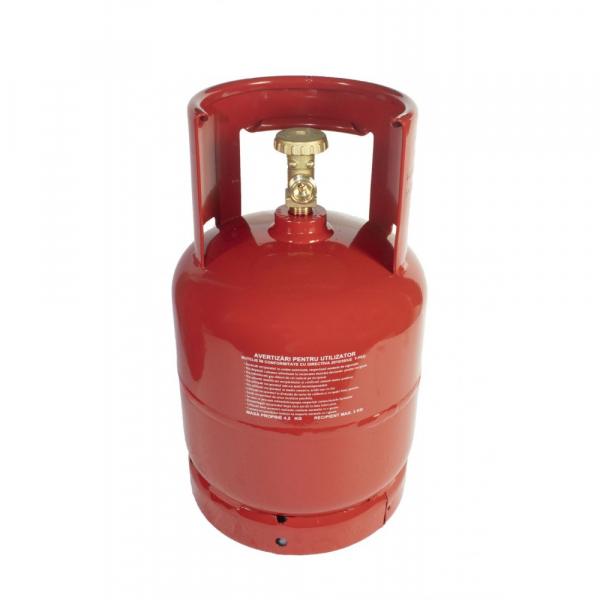 Butelie de gaz reincarcabila GPL | din metal | 7 L | 3 kg | filet 1/2 [0]