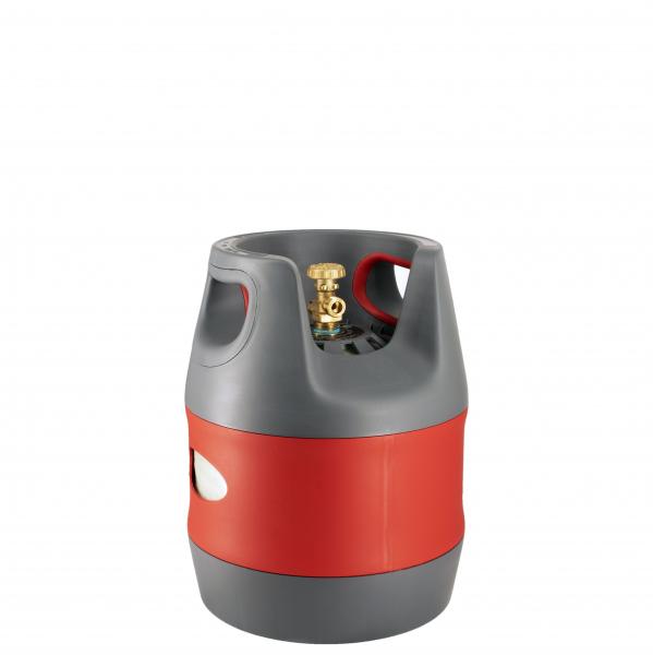 Butelie reîncărcabilă GPL (Gaz), material compozit, gri-roșu, rezistență 30 bari, capacitate 12.7 Litri [0]