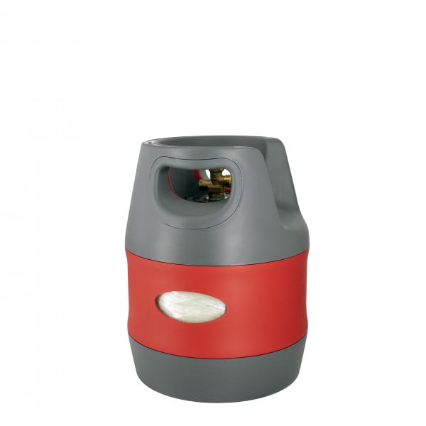 Butelie reîncărcabilă GPL (Gaz), material compozit, gri-roșu, rezistență 30 bari, capacitate 12.7 Litri [3]