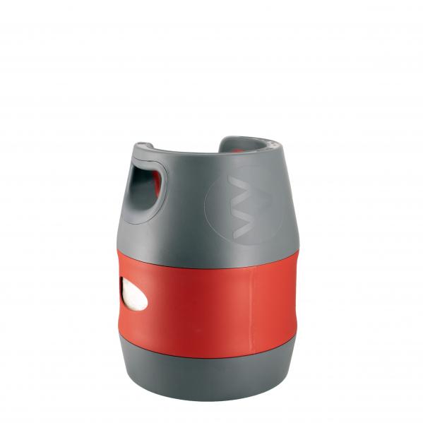 Butelie reîncărcabilă GPL (Gaz), material compozit, gri-roșu, rezistență 30 bari, capacitate 12.7 Litri [2]