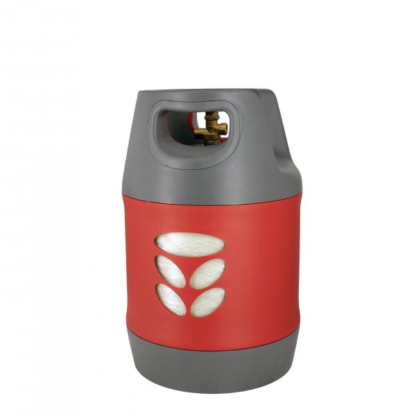 Butelie reîncărcabilă GPL (Gaz), material compozit, gri-roșu, rezistență 30 bari, capacitate 18.2 Litri [3]
