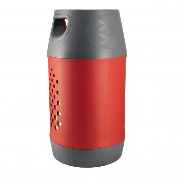 Butelie reîncărcabilă GPL (Gaz), material compozit, gri-roșu, rezistență 30 bari, capacitate 24.4 Litri [2]