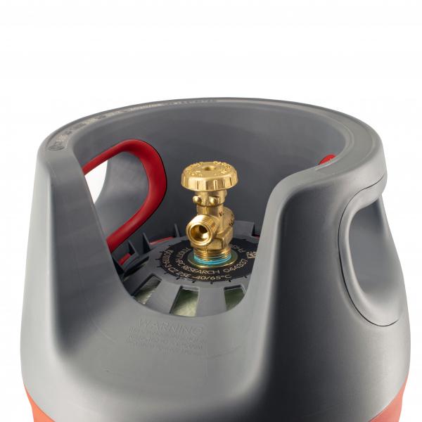 Butelie reîncărcabilă GPL (Gaz), material compozit, gri-roșu, rezistență 30 bari, capacitate 24.4 Litri [3]