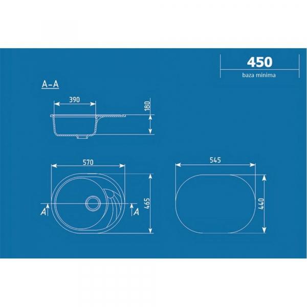 Chiuveta ovala ULGRAN U-403-308 [1]