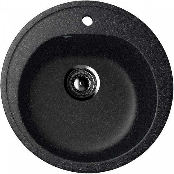 Chiuveta rotunda, neagra, ULGRAN U-101-308 [0]