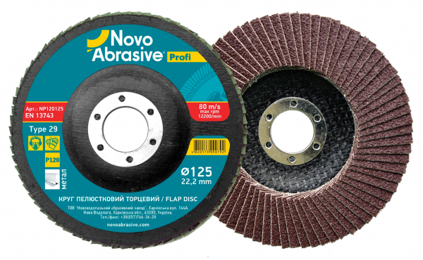 FLAP DISC 125 granulatie 40 [0]