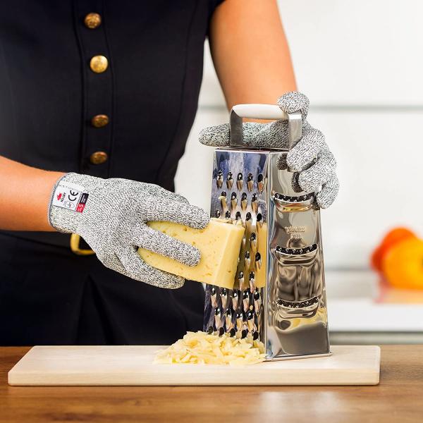 Mănuși Profesionale anti-tăiere & anti-aderență, din poliester, cu inserții de oțel [3]