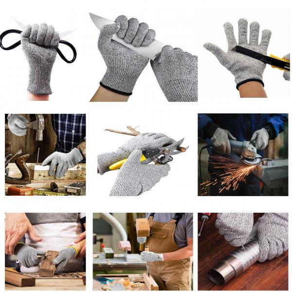 Mănuși Profesionale anti-tăiere & anti-aderență, din poliester, cu inserții de oțel [5]