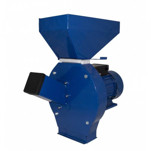 Moara cereale Elefant CM-1.1E + Cutite pentru taiat lucerna/paie (furaje), 200 kg/h, 3.5 KW, 20 ciocanele, 4 site, 100% cupru, cuva inalta [4]
