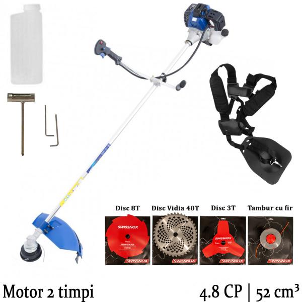 Motocoasa Ciclon , 4.8 CP, 9000 rpm, motor 2 timpi, 4 sisteme de taiere [0]