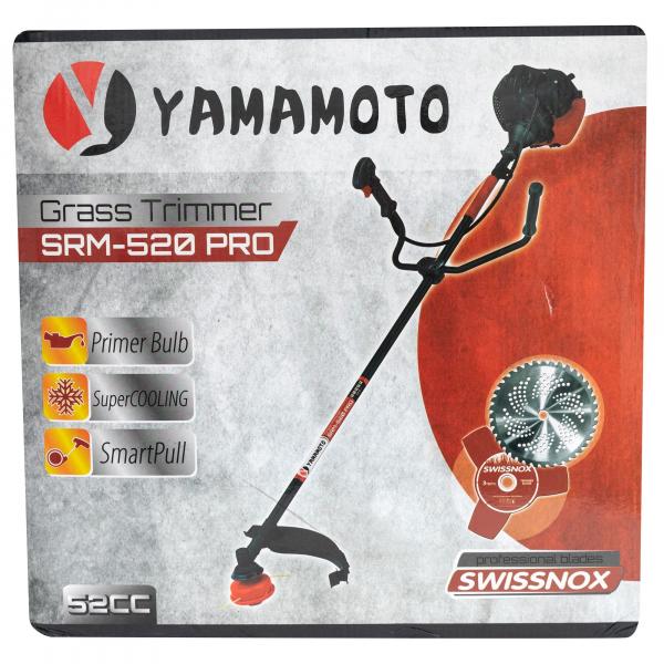 Motocoasa Yamamoto PRO, 6.7 CP, 9000 rpm , motor 2 timpi, 4 sisteme de taiere, pornire usoara Smart Pull [8]