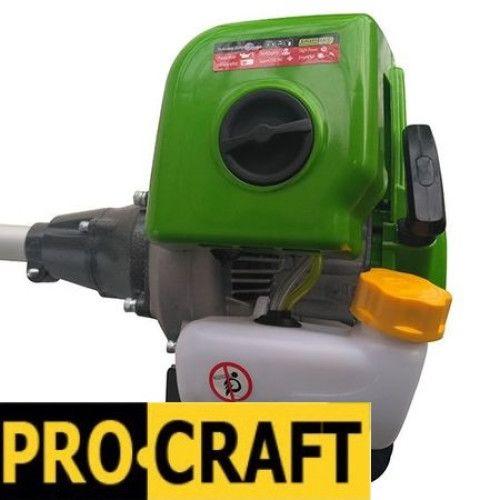 Motocoasa PROCRAFT T4350, 6.3 CP, 9000rpm, motor 2 timpi, 4 sisteme de taiere [4]