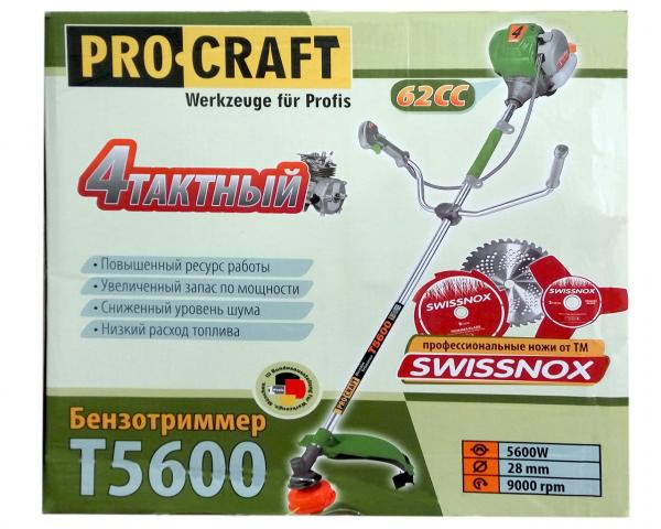 Motocoasa Procraft T5600, 7.5 CP, 9000 RPM, motor 4 timpi , 4 sisteme de taiere [5]