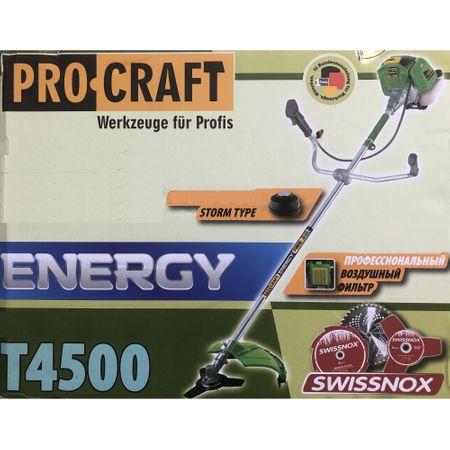 Motocoasa PROCRAFT T4500, 6 CP, 9000 rpm, motor 2 timpi, 7 accesorii, disc Vidia Swiss Inox 40T, disc 3T Swiss Inox, disc 8T Swiss Inox + tambur cu fir, tip alimentare -benzina [5]