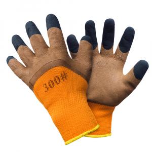 Manusi protectia muncii, groase, de IARNA, CAFEA, pentru temperaturi joase sau frig ( pentru santier, sau gradinarit )