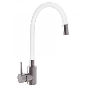 Baterie sanitara pentru chiuveta MIXXUS SUS-011 REFL. WHITE, pipa flexibila [0]
