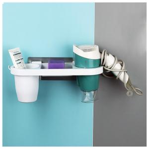 Suport auto-adeziv de perete pentru uscator de par si accesorii [2]