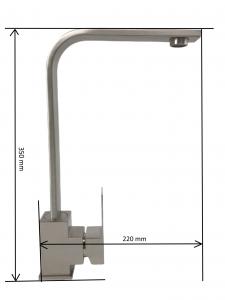 Baterie sanitara pentru chiuveta MIXXUS KUB-011, pipa inalta [6]