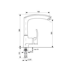 Baterie chiuveta ULGRAN 005-309 [1]