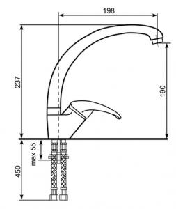 Baterie chiuveta ULGRAN 007-308 [1]