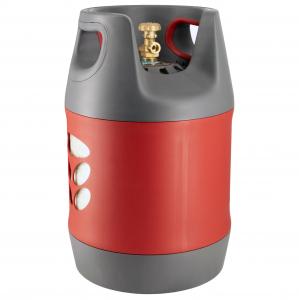 Butelie reîncărcabilă GPL (Gaz), material compozit, gri-roșu, rezistență 30 bari, capacitate 18.2 Litri [0]