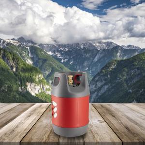 Butelie reîncărcabilă GPL (Gaz), material compozit, gri-roșu, rezistență 30 bari, capacitate 18.2 Litri [6]