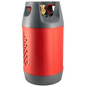 Butelie reîncărcabilă GPL (Gaz), material compozit, gri-roșu, rezistență 30 bari, capacitate 24.4 Litri [0]