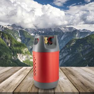 Butelie reîncărcabilă GPL (Gaz), material compozit, gri-roșu, rezistență 30 bari, capacitate 24.4 Litri [6]