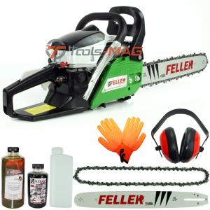 Drujba pe benzina Feller Canada ECS 400, 5.7 CP (4300 W) | 1 lama 40 cm | 1 lant 32 dinti [0]