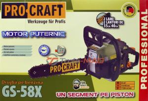 Drujba ProCraft Germany GS-58X  | 2 lame | 2 lanturi [7]