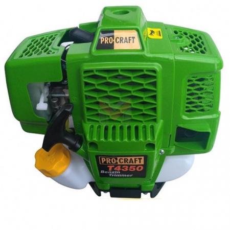 Motocoasa PROCRAFT T4350, 6.3 CP, 9000rpm, motor 2 timpi, 4 sisteme de taiere [2]