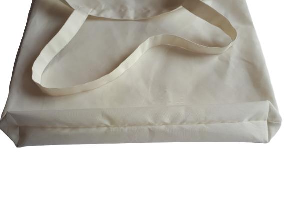 Sacosa textila din policotton, cu maner lung, 33 x 35 cm 2