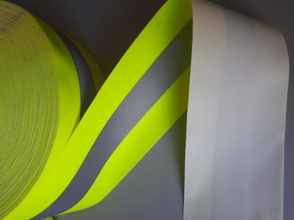 Banda reflectorizanta fluorescenta 7,5 cm >400 cd/lux 0