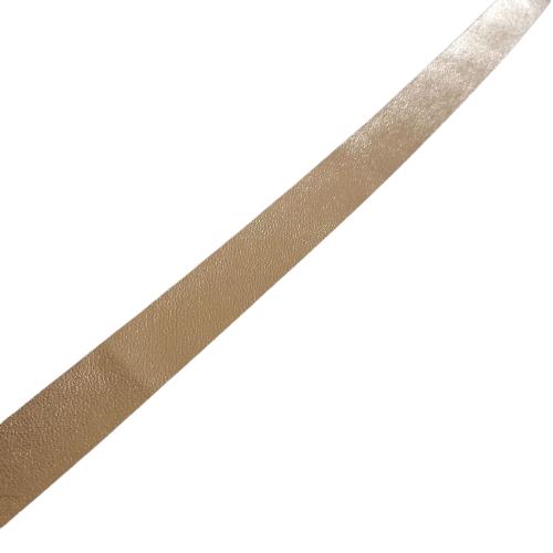 Banda din piele ecologica aurie, 15mm [2]