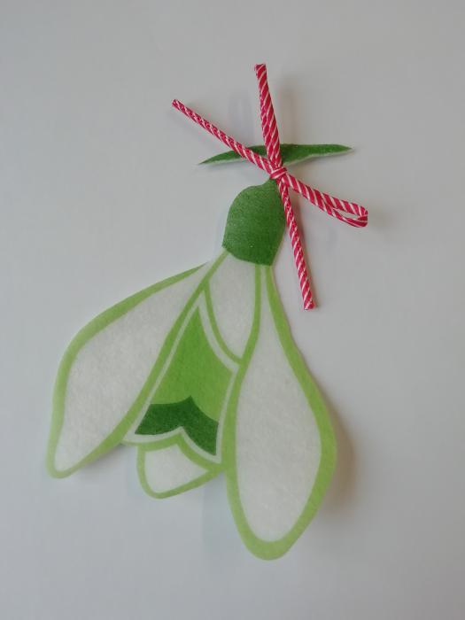 Accesoriu decorativ ghiocel de martisor, cu snur [0]
