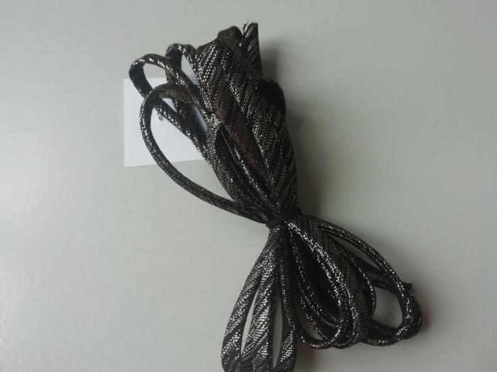 Banda tip spaghetti negru cu auriu 0