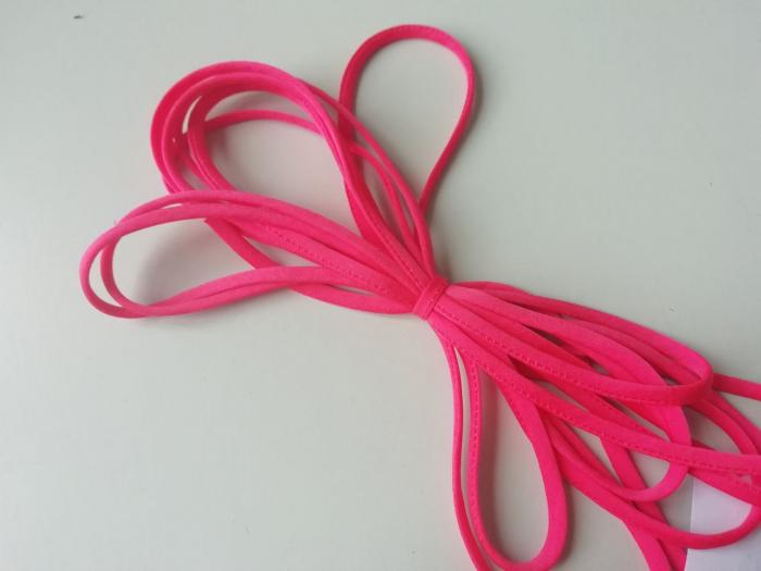 Banda tip spaghetti roz 0